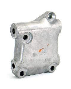 Lower radiator bracket (12A361) alloy mounting block.