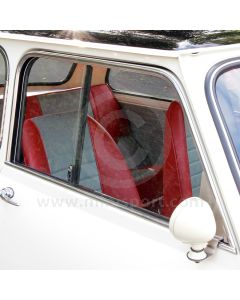 24A342 Left side, lower door moulding in chrome to suit Mini Mk1-2 models with sliding windows.