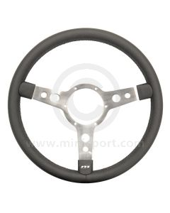 Classic Mini steering wheel by Mountney in 320mm - Black Leather