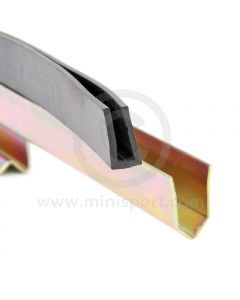 37H6300 Rubber seal for the door glass support rails ALA5746 and ALA5747 on Mini models Mk3 on with wind up windows. (24A948)