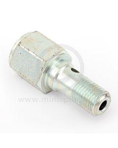 7H7995 Brake light switch banjo bolt for single brake line type Minis.