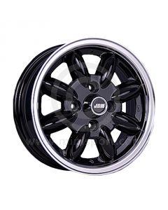 5 x 13 Minilight Wheel - Black/Polished Rim