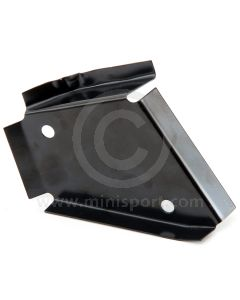 ALA5533 LH stiffening bracket fits in the boot to strengthen the rear seat belt lower mounting area on Mini Saloon models.