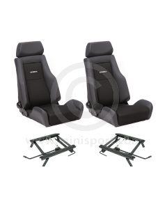 Cobra Le Mans Seat Package - Black