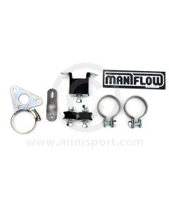 """FKT01A Heavy duty fitting kit for Maniflow 1 3/4"""" bore single or twin box, side exit exhaust systems."""