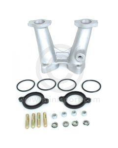 Weber DCOE Alloy Inlet Manifold - 6'' - Competition - Head port dia 34.3mm