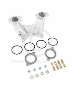 Weber DCOE Alloy Inlet Manifold - 4'' - Competition - Head port dia 34.3mm