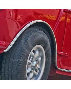 Mini side sill trim in chrome - wheel arch