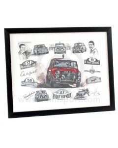 Paddy Hopkirk Limited Edition Print by ArtbyBex