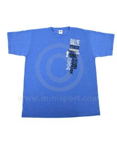 Paddy Hopkirk Monte Carlo Celebration T Shirt in Heather Royal