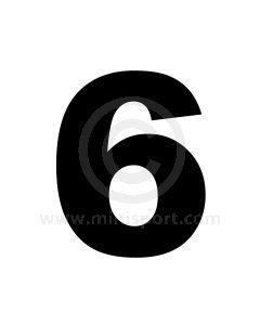 Race Numbers - 11'' - 6   9
