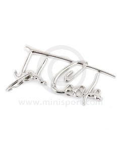 John Cooper Chrome Signature Key Ring