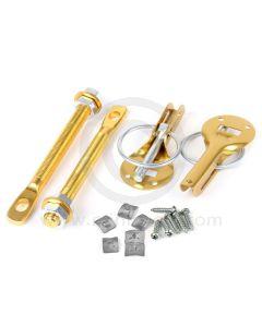 Competition Bonnet Pin Kit - Aluminium Annodised Gold