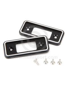 Cooper Alloy Billet Door Lock Covers - Black