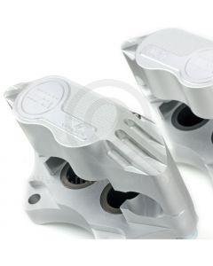 "Cooper 8.4"" Std 4 pot Alloy Caliper and Pad Kit - Silver"