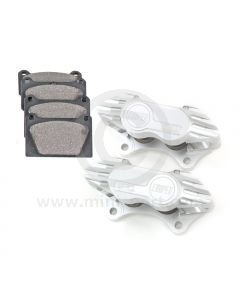 """Cooper 7.9"""" Vented 4 pot Alloy Caliper and Pad Kit - Silver"""