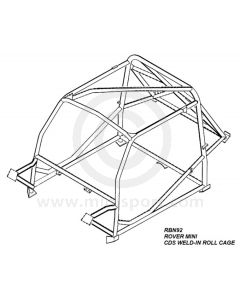 RBN926SSU Mini Weld In Roll Cage   Safety Devices
