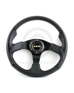 M34M3PB Mountney M Range 340mm diameter moulded steering wheel, with black anodised spokes
