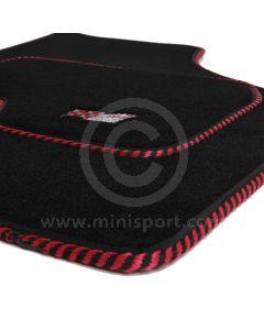 MSL5002 Mini Mini Sport Luxury Carpet Mat Set With Black & Red Binding