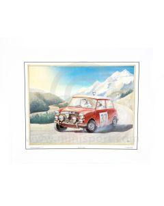Paddy Hopkirk - 1964 Monte Carlo 33 EJB on the Home Straight Print