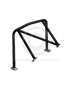 BLACK - RHD fixed diagonal Rear Roll Cage