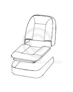 Front Seat Base & Squab Foam Cushion Set - Mini 1275GT 69-75