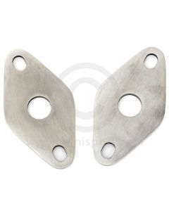 SMB108 Classic Mini top arm retaining plates (2A4327), stainless steel pair