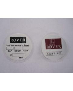 Mini Rover Service Sticker
