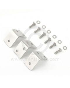 Pick Up Tilt Frame Brackets - Brushed Stainless