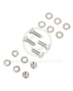 SMBFK003 Stainless steel fitting kit for the Classic Mini top arm retaining plates, for both sides.