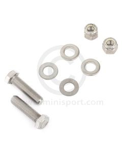 smbfk016-Fitting kit in stainless steel, to mount the front rubber mounting (21A2624) to the front subframe on classic Minis.