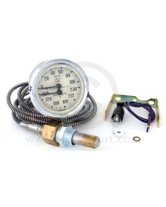 Smiths Dual Oil Pressure/Water Temperature Gauge - Magnolia face with Chrome Ring