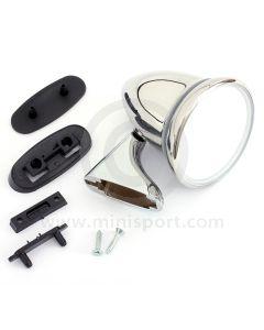 Adjustable Bullet Mirror - Chrome - RH