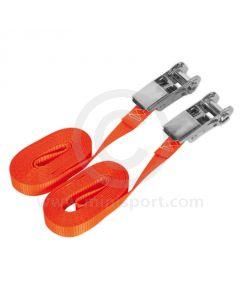 Self-Securing Ratchet Tie Down - 25mm x 4.5m - 800kg Breaking Strength - Pair