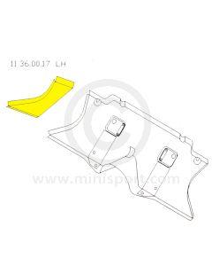 Classic Mini LH Toe Board End Repair