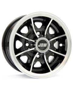 5 x 10 Dunlop D1 Alloy Wheel - Black with polished rim