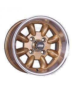 6 x 12 Minilight Wheel - Gold/Polished Rim