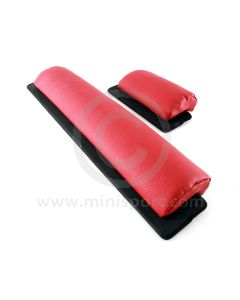Works Type Door Pocket Padding pair - Red with Balsa Wood Backing